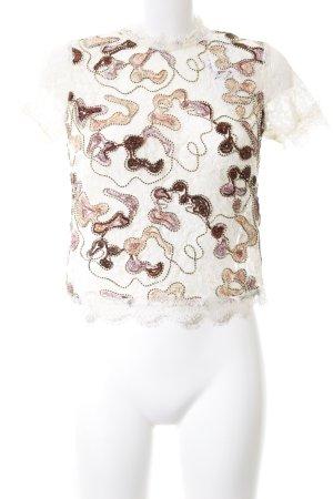 Zara Trafaluc Spitzentop abstraktes Muster Elegant