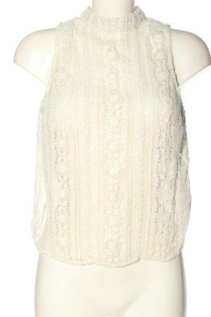 Zara Trafaluc Top di merletto bianco sporco stile casual