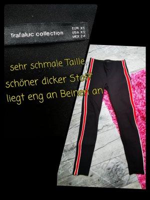 Zara Trafaluc Leggings nero-rosso