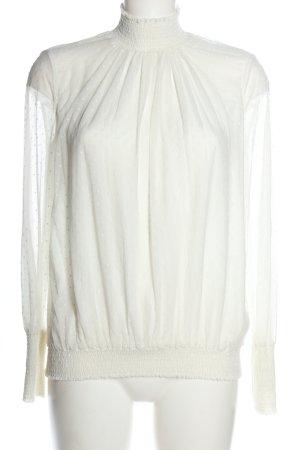 Zara Trafaluc Bluzka ze stójką biały W stylu casual