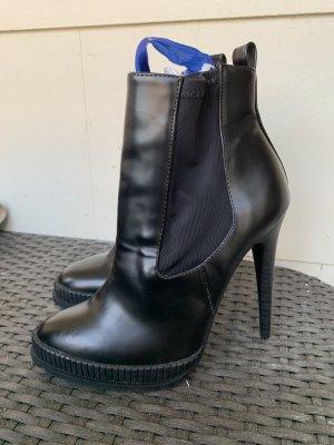 Zara Trafaluc Stiefelletten schwarz lack gr 37
