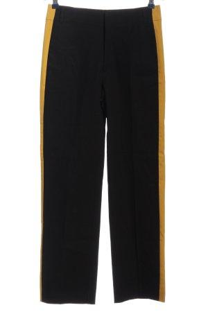 Zara Trafaluc Stoffhose schwarz-blassgelb Streifenmuster Casual-Look
