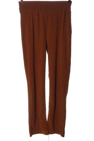 Zara Trafaluc Pantalone jersey marrone stile casual