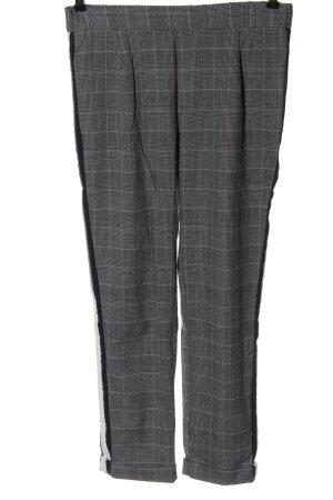 Zara Trafaluc Pantalone jersey nero-grigio chiaro motivo a quadri