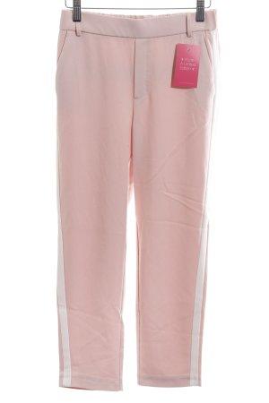 Zara Trafaluc Stoffhose pink-weiß Streifenmuster Casual-Look