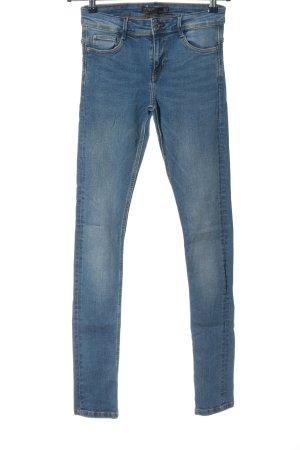 Zara Trafaluc Straight-Leg Jeans blau Casual-Look