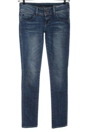 Zara Trafaluc Jeans a gamba dritta blu stile casual