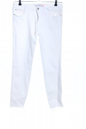 Zara Trafaluc Stretch jeans wit casual uitstraling