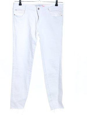 Zara Trafaluc Jeans stretch blanc style décontracté