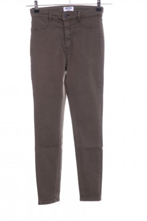 Zara Trafaluc Stretch Jeans braun Casual-Look