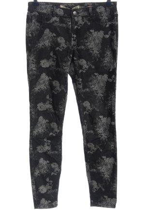 Zara Trafaluc Stretch jeans lichtgrijs-zwart volledige print casual uitstraling
