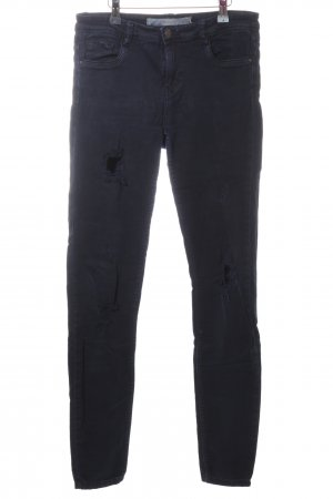 Zara Trafaluc Stretch Jeans blau Casual-Look