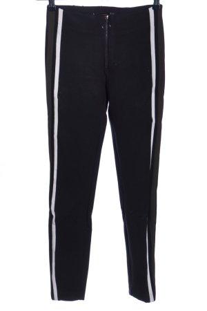 Zara Trafaluc Stretchhose schwarz-weiß Casual-Look
