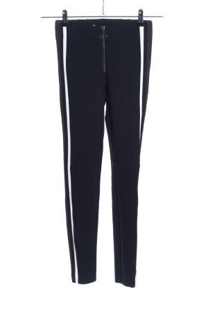 Zara Trafaluc Stretchhose schwarz Streifenmuster Casual-Look