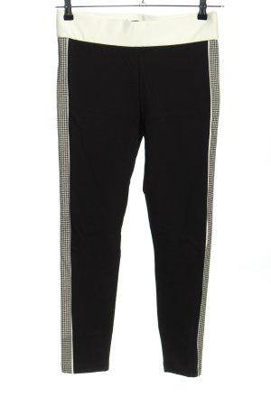 Zara Trafaluc Stretchhose schwarz-weiß Karomuster Casual-Look