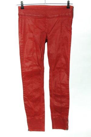 Zara Trafaluc Stretchhose rot Steppmuster Casual-Look