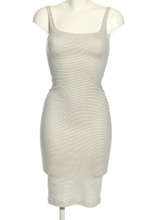 Zara Trafaluc Stretch Dress light grey-white striped pattern casual look