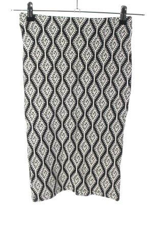 Zara Trafaluc Gonna stretch nero-bianco motivo grafico stile casual