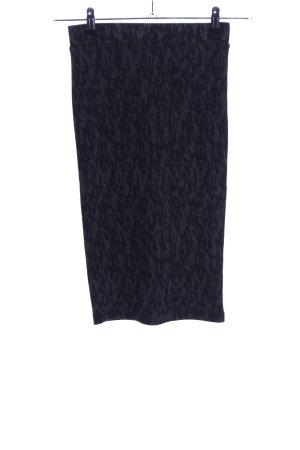 Zara Trafaluc Spódnica ze stretchu jasnoszary-czarny Na całej powierzchni