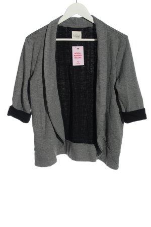 Zara Trafaluc Gebreide blazer lichtgrijs-zwart gestippeld casual uitstraling