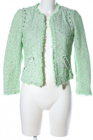 Zara Trafaluc Strickblazer grün meliert Casual-Look