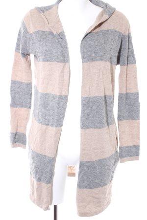Zara Trafaluc Strickjacke beige-grau Streifenmuster Casual-Look