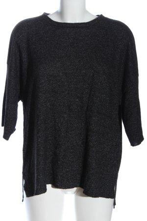 Zara Trafaluc Feinstrickpullover schwarz Casual-Look