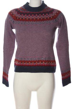 Zara Trafaluc Sweter z dzianiny Graficzny wzór W stylu casual