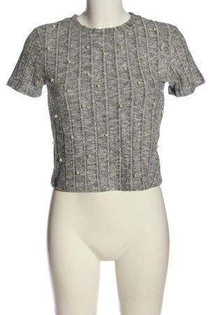 Zara Trafaluc Strickshirt hellgrau Casual-Look