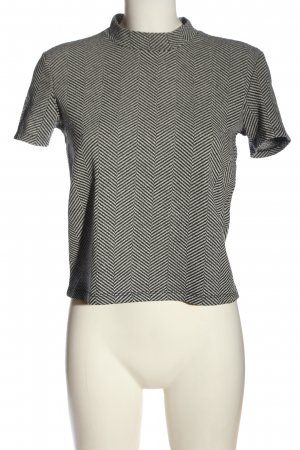 Zara Trafaluc Camisa tejida negro-blanco estampado gráfico look casual