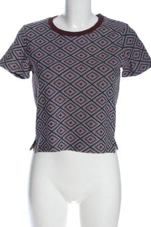 Zara Trafaluc Strickshirt grafisches Muster Casual-Look