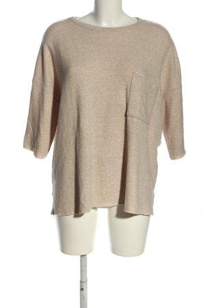 Zara Trafaluc Knitted Jumper cream flecked casual look
