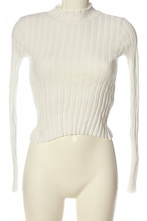 Zara Trafaluc Strickshirt weiß Casual-Look