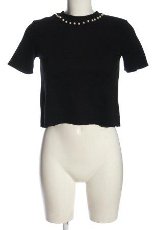 Zara Trafaluc Strickshirt schwarz Casual-Look