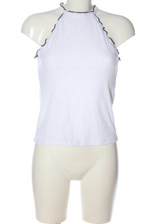 Zara Trafaluc Gebreide top wit-zwart casual uitstraling