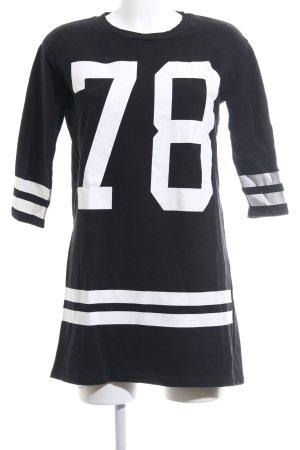 Zara Trafaluc Sweatkleid schwarz-weiß Schriftzug gedruckt Casual-Look