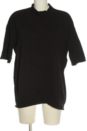 Zara Trafaluc Rippshirt schwarz Casual-Look