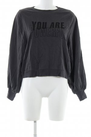 Zara Trafaluc Sweatshirt hellgrau Schriftzug gedruckt Casual-Look