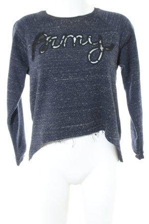 Zara Trafaluc Sweatshirt blau meliert Casual-Look