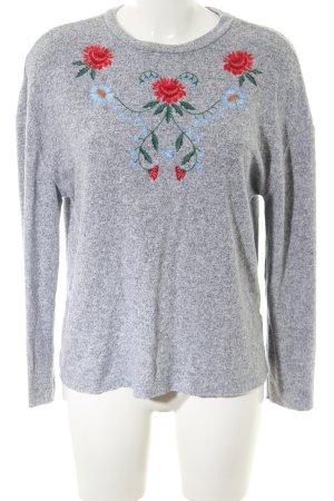 Zara Trafaluc Sweatshirt Blumenmuster Casual-Look