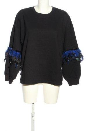 Zara Trafaluc Sweatshirt schwarz-blau Casual-Look