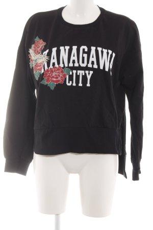Zara Trafaluc Sweatshirt Motivdruck Casual-Look