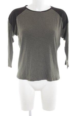 Zara Trafaluc Sweatshirt hellgrau-schwarz Casual-Look