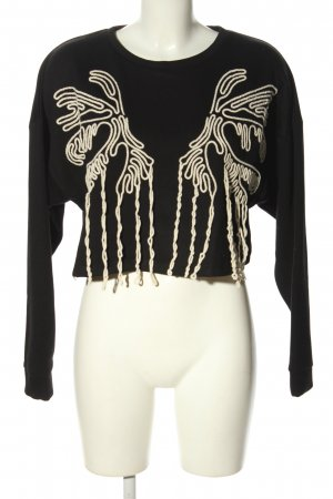 Zara Trafaluc Sweatshirt schwarz-wollweiß Casual-Look