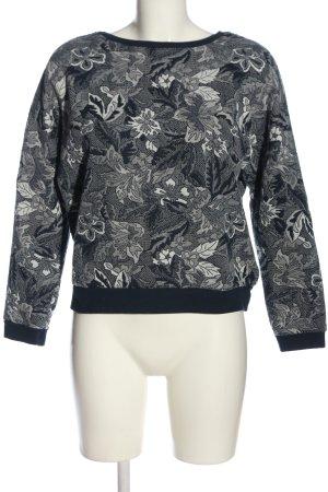 Zara Trafaluc Sweatshirt hellgrau Allover-Druck Casual-Look