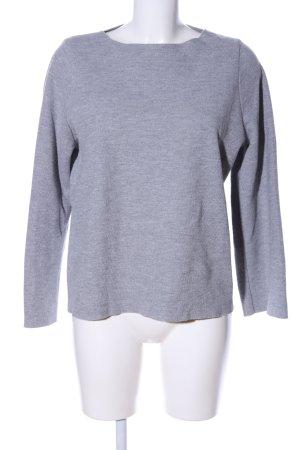 Zara Trafaluc Sweatshirt hellgrau meliert Casual-Look