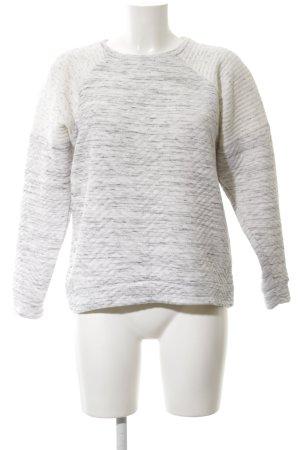 Zara Trafaluc Sweatshirt hellgrau-weiß meliert Casual-Look