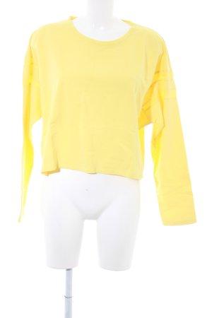 Zara Trafaluc Sweatshirt gelb Casual-Look