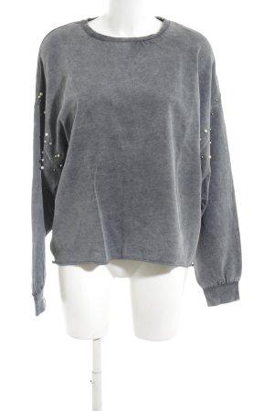 Zara Trafaluc Sweatshirt hellgrau Casual-Look