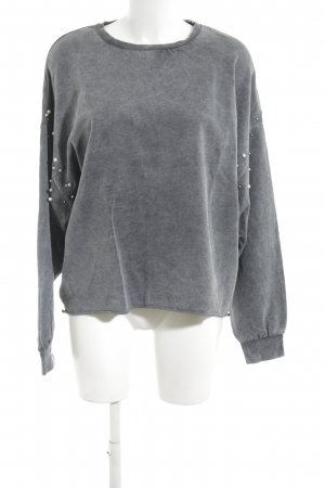 Zara Trafaluc Sweatshirt gris clair style décontracté